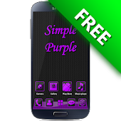 SimplePurple GO Launcher Theme