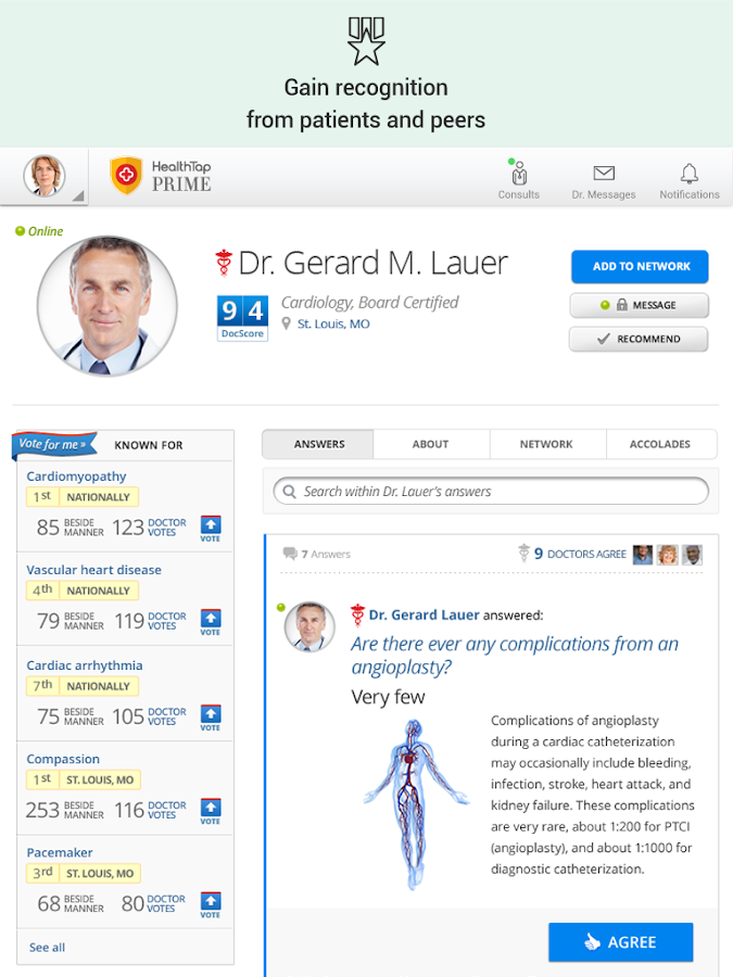 HealthTap for U.S. Doctors - screenshot