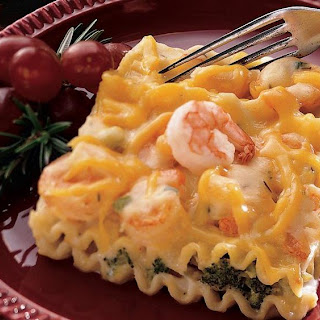 Broccoli-Shrimp Lasagna.