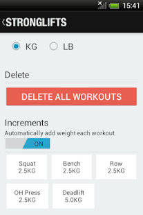 StrongLifts 5x5 - Official App - screenshot thumbnail