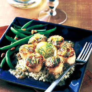 Seared Scallops with Lemon and Dill.