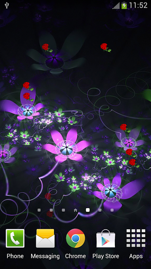 Fantasy Flowers Live Wallpaper- screenshot