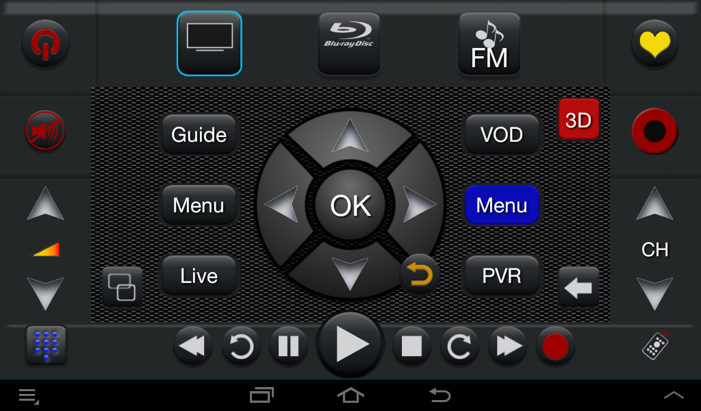 TS Pro Universal Remote IR-IP - screenshot