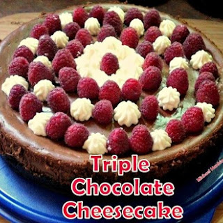 Triple Chocolate Cheesecake.