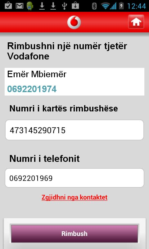 My Vodafone (AL) - screenshot