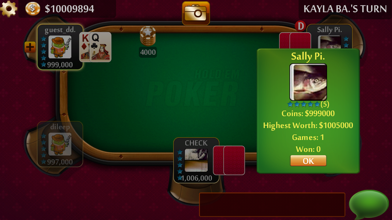 Texas HoldEm Poker LIVE - Free - screenshot