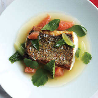 Striped Bass with Lime Broth.