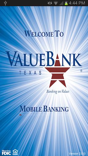 ValueBank TX – Mobile Banking