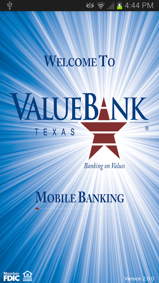 ValueBank TX – Mobile Banking - screenshot