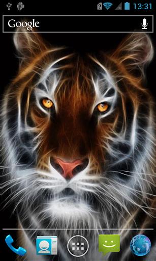 Fluffy tiger live paper