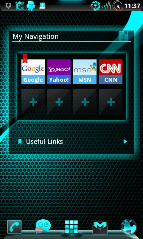 GOWidget ElectricCyan ICS-Free - screenshot