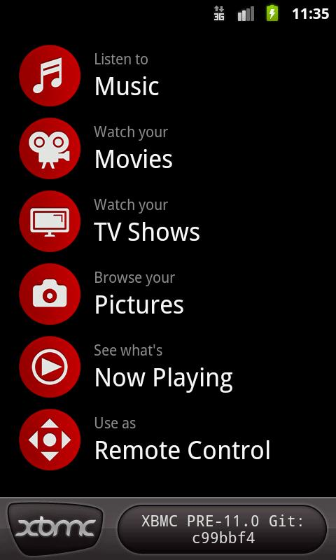 Official XBMC Remote - screenshot