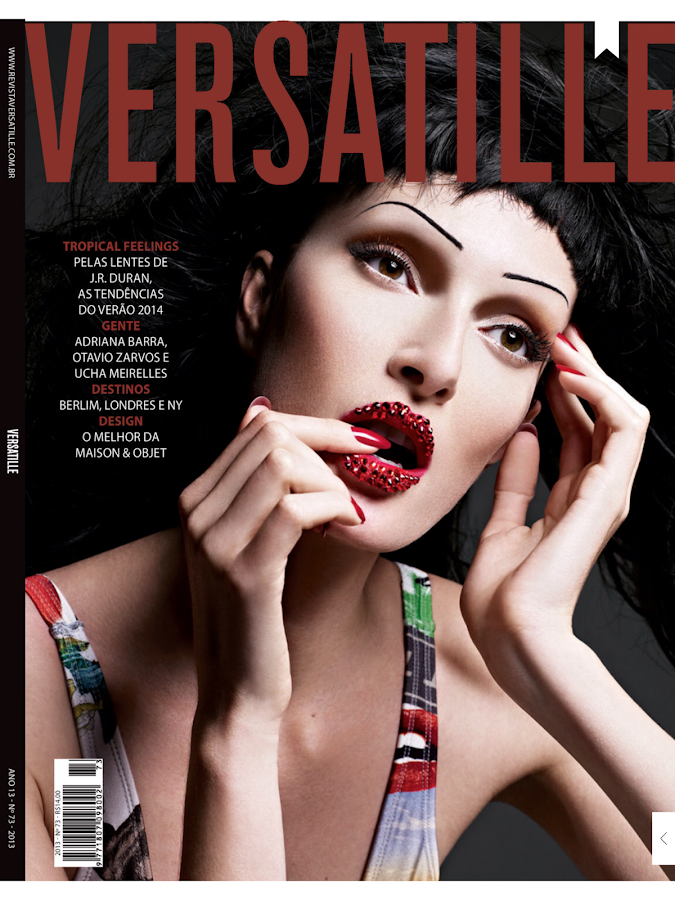 Revista Versatille: captura de tela