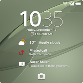 Xperia™ wallpaper: SilverGreen