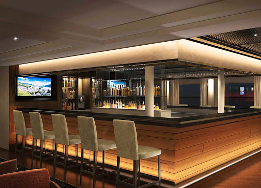 Viking-Longship-Lounge-Bar - Relax, be open to new vistas and meet interesting new people in the cocktail lounge aboard your Viking River cruise ship as you travel Europe's waterways.
