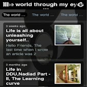 The world through my eyes ..