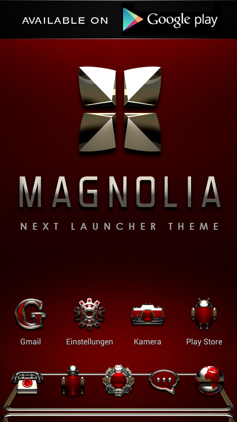 GO Locker MAGNOLIA Theme - screenshot