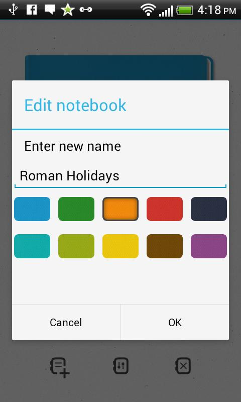 Subnotes Notepad m>notes - screenshot