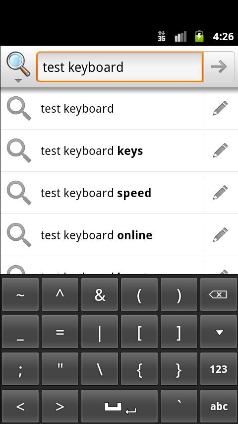 Slidy Press Keyboard- screenshot