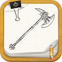 Draw Sword, Shield, Bow, Axe icon