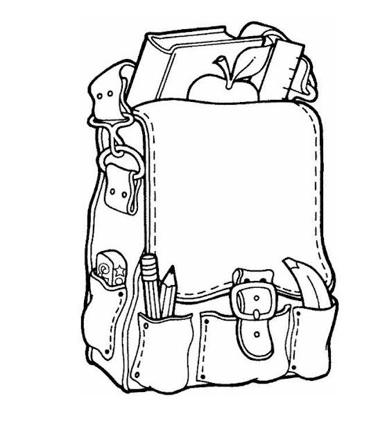 Dibujos Materiales Escolares Para Colorear