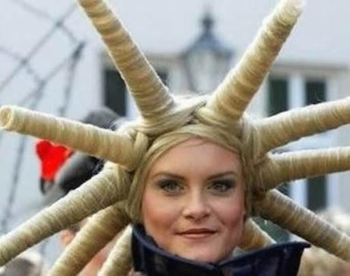 Facts Around Us Funky Wedding Hairstyles Women Hair Styles Weird Hair Cut