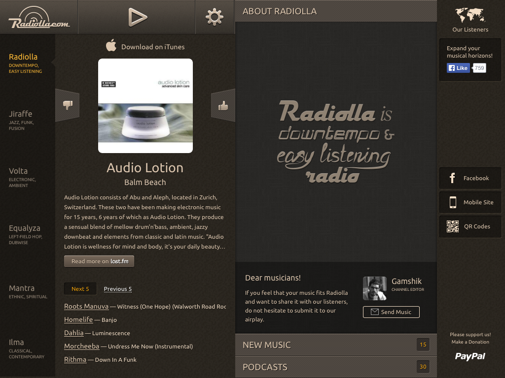 Radiolla- screenshot