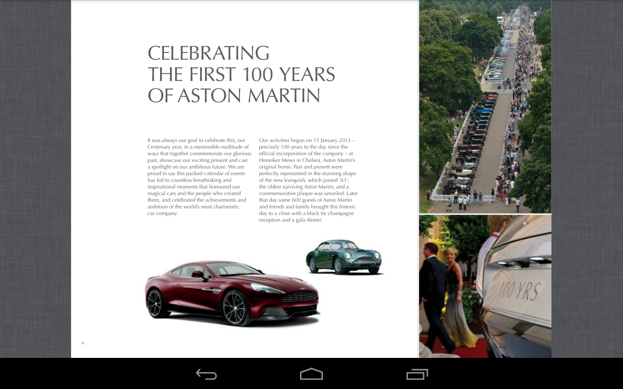 Aston Martin Brochure - screenshot