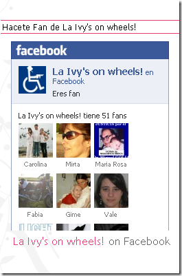 La Ivy's on wheels!