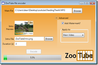 zootube wpf app screenshot