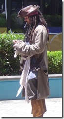 Not the real Jack Sparrow - looks virtually the same (photo courtesy Dean Willson)