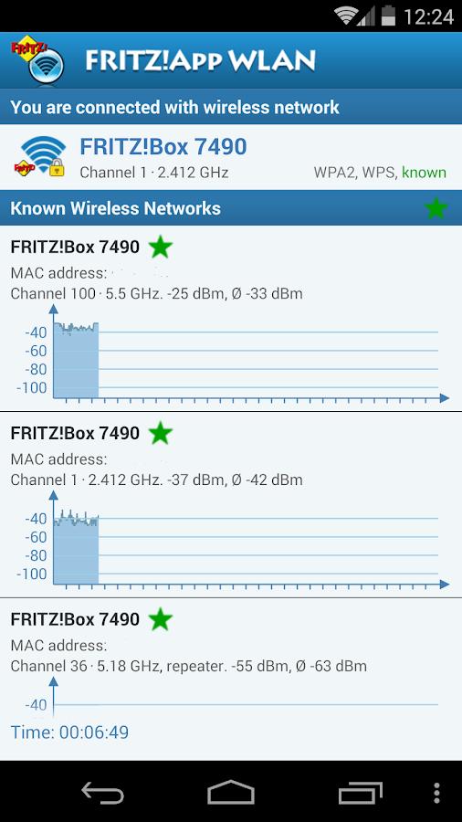 FRITZ!App WLAN Lab - screenshot