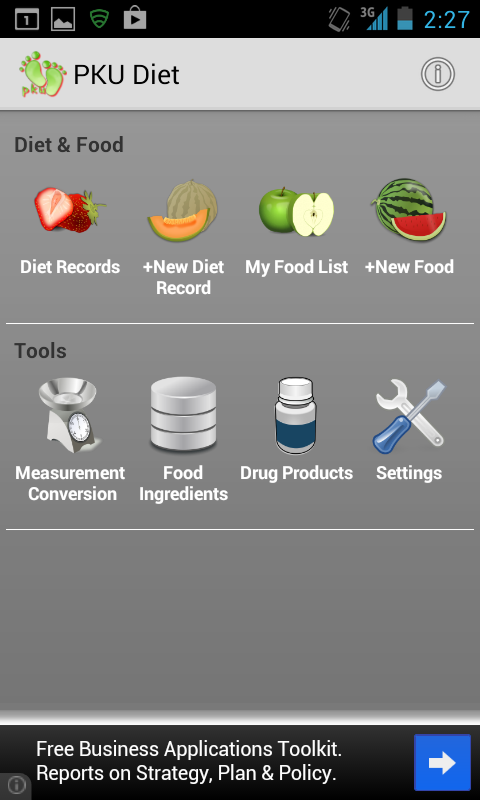 MyPKUDiet - screenshot