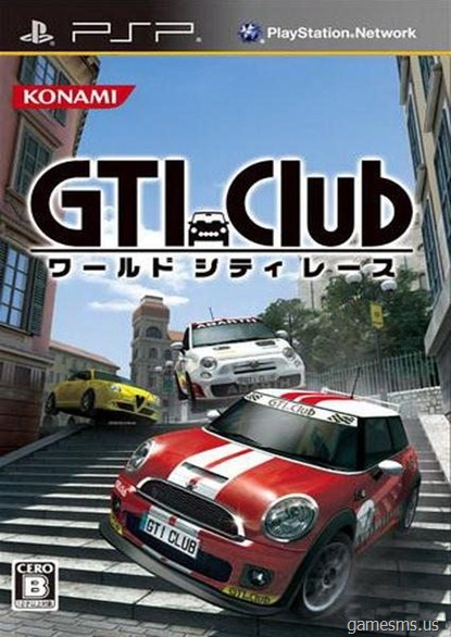 GTI Club Supermini Festa PSP Cover