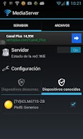 Screenshot of Media Server