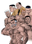 Sexy Muscle Men in Comics