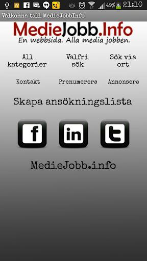 MedieJobbInfo - Mobil