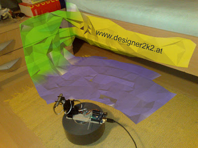 3D Scanner with 2 RC Servos and a distance Sensor