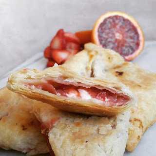 Strawberry, Blood Orange and Cream Cheese Turnovers