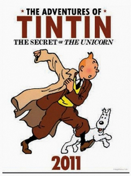 The Adventures of Tintin, Secret of the Unicorn, movie, poster