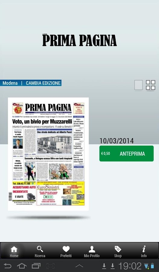 Prima Pagina Edicola Digitale - screenshot
