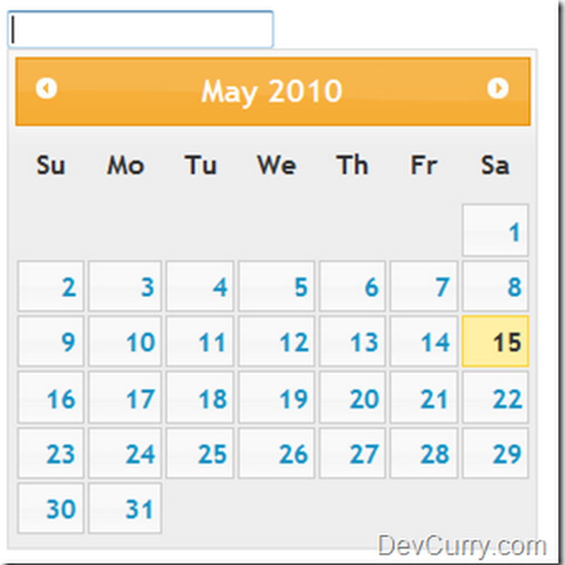 DevCurry: Reduce Size of the jQuery DatePicker