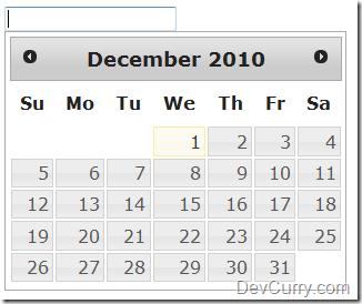 DevCurry: Change the Background Color of jQuery Datepicker