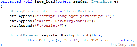 Call JavaScript from an ASP NET AJAX Update Panel in Content Page Load