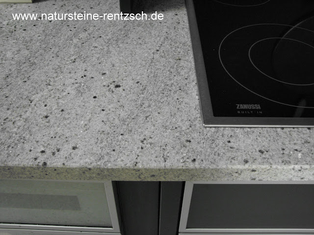 k che arbeitsplatte granit hell weiss granitplatte neu ebay. Black Bedroom Furniture Sets. Home Design Ideas