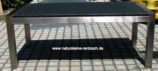 tisch esstisch 230 100 edelstahl gartentisch granit marmor schwarz matt antik ebay. Black Bedroom Furniture Sets. Home Design Ideas