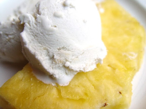 Pineapple with Ice Cream