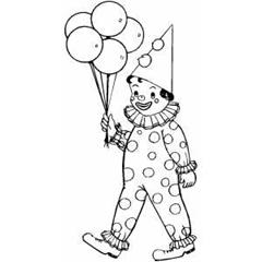 Clown cu baloane