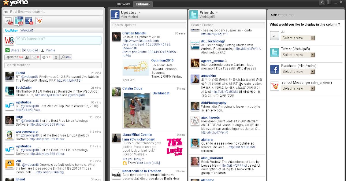 Yonoo Social Media Client Integrates Instant Messaging