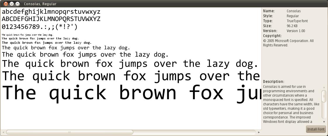 Consolas font – consolas ttf, otf, zip file download.